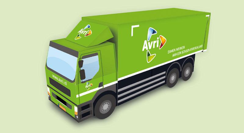 Bouwplaat inzamelwagen Avri